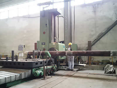 One vertical boring machine